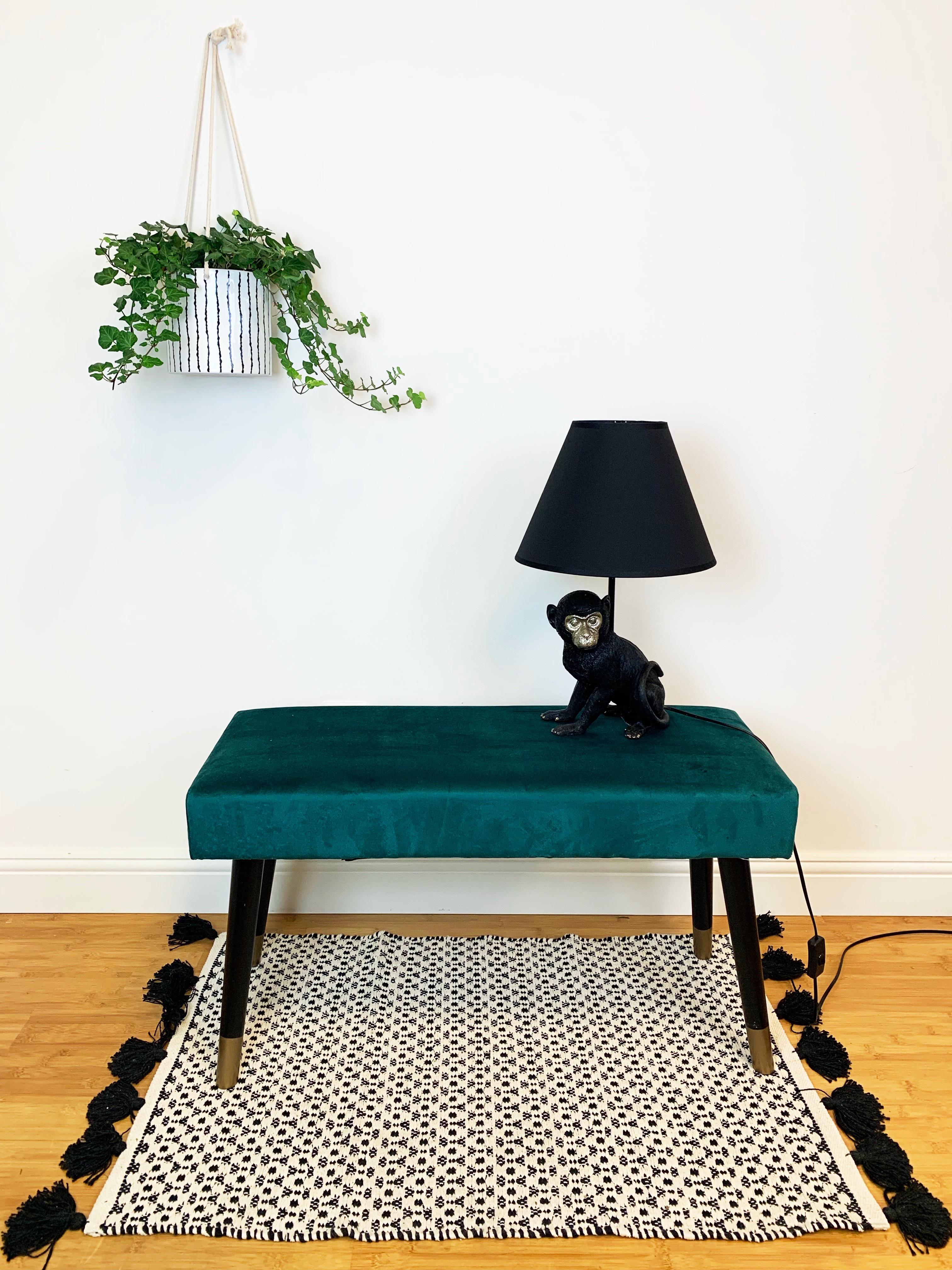 HouseVitamin bankje velours klein-meubelen
